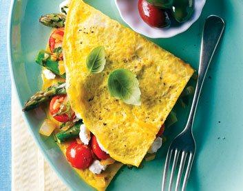 Grilled Veggie Omelette